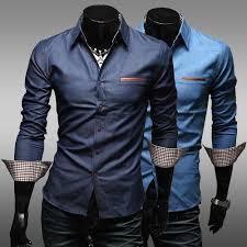 fashion 2016 korean mens clothing cotton slim fit french cuff