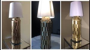 dollar tree diy gold and white lamp youtube