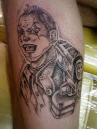 gangsta clown with gun tattoo design tattoos book 65 000
