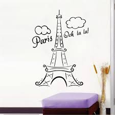 decorating arts and crafts picture more detailed about essential new design paris eiffle tower vinyl wall decals home art stickers mural