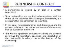 silent partner agreement contract compromise agreements