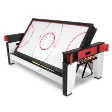 outdoor air hockey table the rotating air hockey to billiards table hammacher schlemmer