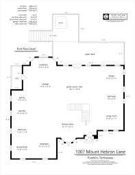 Floor Plans For Real Estate Agents 1007 Mt Hebron Lane First Floor Plan Site Plan Solutions