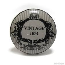 pomelli vintage da 4 pomelli di porcellana neri e grigi vintage shabby chic 1