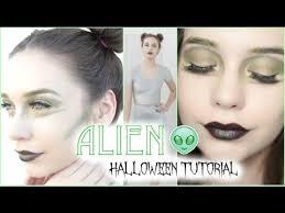 cute alien halloween tutorial makeup hair u0026 youtube