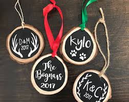 wedding gift ornaments christmas ornament married etsy