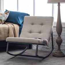 Living Room Rocking Chairs Details About Upholstered Rocking Chair Tufted Nursery Furniture