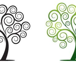 swirly tree vector graphics freevector