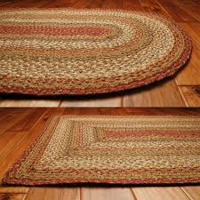 mustard seed jute braided rugs primitive home decors