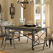 walton rectangular dining table w casters dining tables