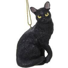black cat resin ornament gift ideas ornament