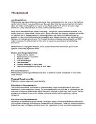 phlebotomist resume samples phlebotomy qualifications photos of