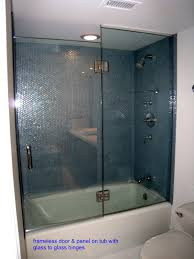 Bathtub Shower Door Bathroom Glass Enclosures Bathtub Shower Enclosure Ideas Tub On