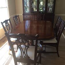 Drexel Heritage China Cabinet Find More Drexel Heritage Mahogany Dining Table U0026 6 Chairs And