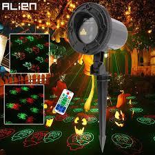 alien remote rg 12 patterns halloween outdoor laser projector