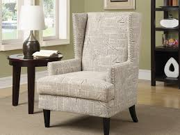 accent chair beige newspaper print by coaster leopard chairs zebra flora armless â furniture dani multiple colors curved square back no sag springs deep