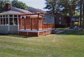 Pergola And Decking Designs by Deck Pergola Privacy Screen Deck Design And Ideas