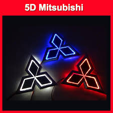 mitsubishi sticker 2018 2015 new auto 5d logo light mitsubishi led badge sticker