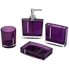 Lavender Bathroom Accessories by Amazon Com Eumat Nature Series Bathroom Organizer Set Acrylic 4