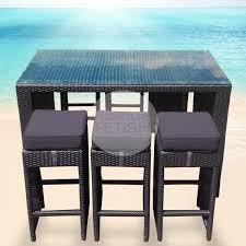 Rattan Bar Table Outdoor Large Bar Table U0026 6 Bar Stools Furniture Fetish Gold