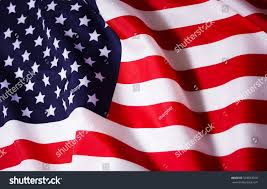 Pan American Flag Beautifully Waving Star Striped American Flag Stock Photo