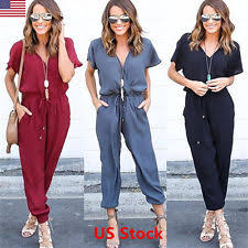 casual jumpsuits chiffon casual jumpsuits rompers for ebay