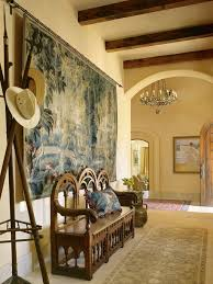 home decor tapestry hallway with wooden beams and tapestry wall decor elegant and