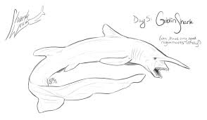 goblin shark coloring pages for kids