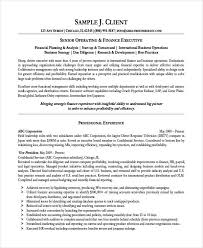 Best Finance Resume by 9 Finance Resume Free U0026 Premium Templates