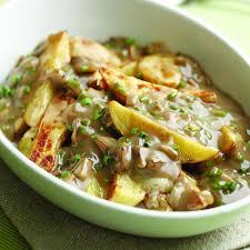 turkey mushroom gravy recipe just oven fry poutine with mushroom gravy recipe eatingwell