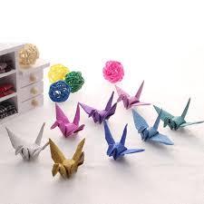 glitter paper origami cranes garland ornament handmade diy with