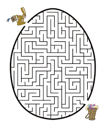easter bunny egg maze coloring printables easter