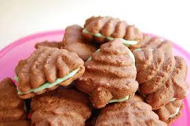minty chocolate christmas tree spritz cookies hideous dreadful