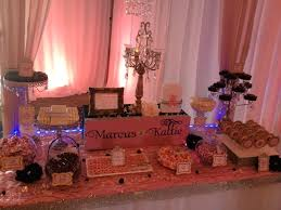 Pink And Black Candy Buffet by Pink Gold And Black Candy Table Yelp