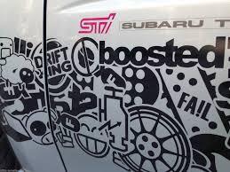 jdm sticker bomb subaru sti performance bomb stickers stripes racing jdm infinity270