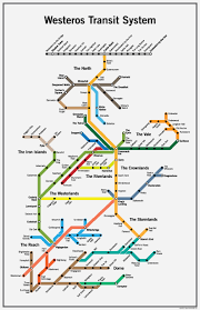 Map Westeros Westeros Transit System Poster Game Of Thrones Map