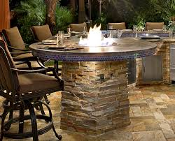 kitchen tables bar height outdoor fire pit with bbq island fire