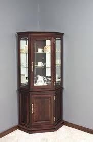 Mid Century Corner Cabinet Dining Room Corner Storage Unit Oak Cabinet Sets With China