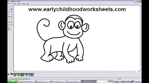 how to draw a monkey clipart clipartxtras