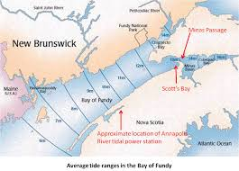 Nova Map A Tidal Power Lagoon In Nova Scotia U0027s Scott U0027s Bay Earth Science
