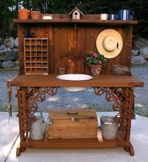 Wooden Potting Benches 25 Beautiful Potting Bench Design Ideas Creating Convenient