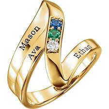 wedding ring with name engraved gold 1 to 5 stones names engravable ring
