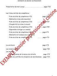 comp騁ences commis de cuisine dossier professionnel pdf