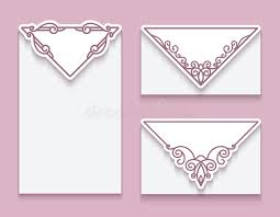 envelope templates with corner ornament stock vector image 79688855