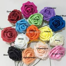 silk flowers bulk 100x artificial flowers royal blue roses for bridal bouquet