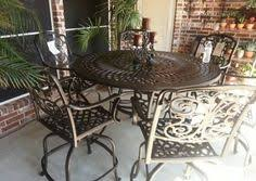 High Table Patio Set High Back Swivel Chairs From Gensun U0027s Grand Terrace Collection