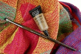 make up for ever aqua brow 15 in blonde 270 angled eyebrow brush review