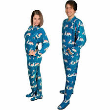 footie pajamas for adults with flap italian scooter fleece