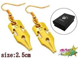 jojo s earrings jojo s adventure rohan kishibe golden earrings ear
