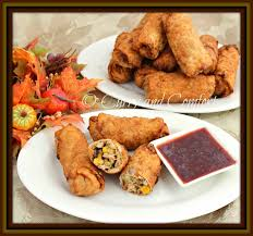 thanksgiving captions kitchen simmer thanksgiving egg rolls with cranberry sauce